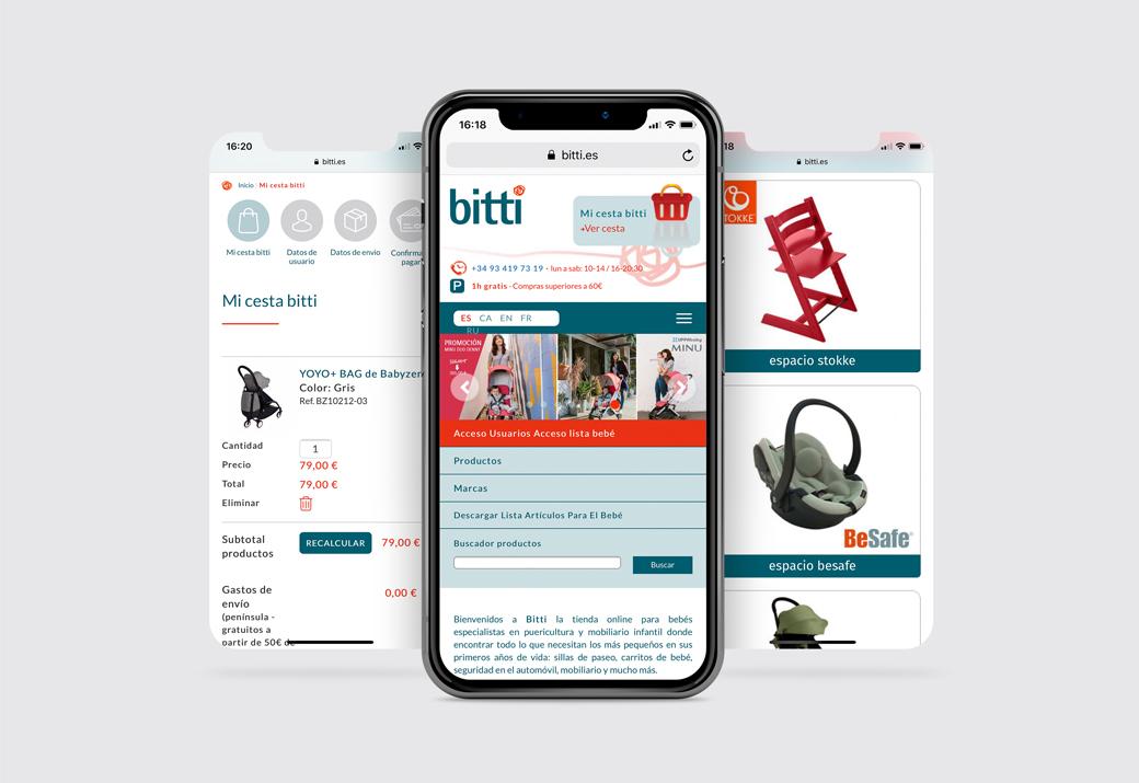 diseño responsive Bitti - Artimedia