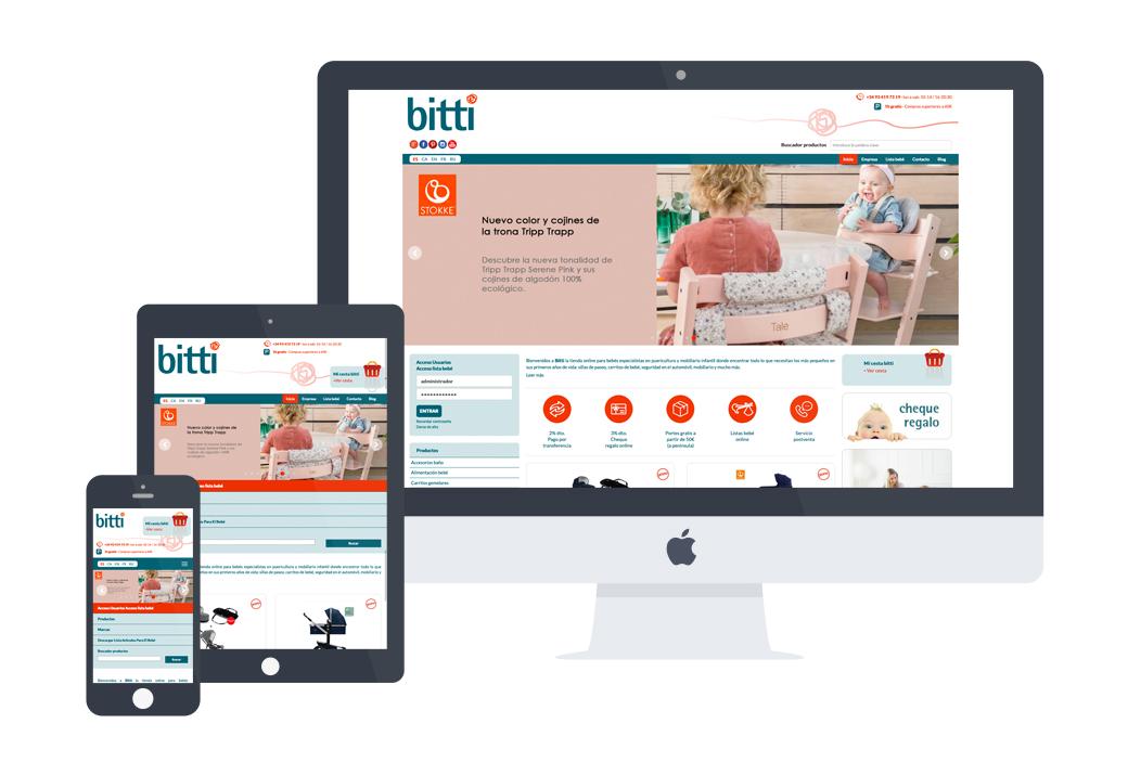 desarrollo web Bitti - Artimedia