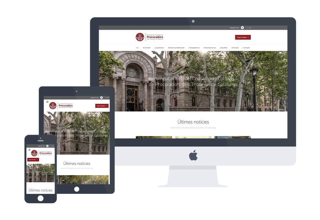 Desarrollo web Procuradors - Artimedia